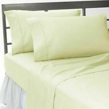 Luxuries 1-Piece TwinXL Size Bed (Top)Flat Sheet Ivory Solid 400 TC 100%Cotton