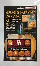 Oklahoma Sooners Halloween Pumpkin Carving Kit NEW 6 patters jack-o-latern
