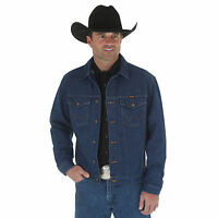 NWT Wrangler Western Unlined Denim Jacket VARIOUS SIZES Heavy Weight Denim Blue
