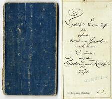Handschrift von 1797: Gebühr's Entwürfe für [die] gesamte Armée – Branchen