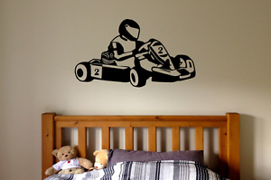 Go Kart Wall Decal Art Sticker Transfer MO13