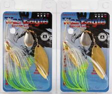(Lot Of 2) War Eagle Tandem Willow Spinnerbait 3/4Oz We34Segt50 Ht Blu Her K5301