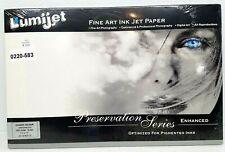 "LUMIJET 11x17"" Fine Art Ink Jet Paper Preservation Series 20 sheets VELOUR 19mil"