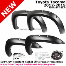 For Toyota Tacoma 12-16 Pocket Style Fender Flares UV & Impact Resistant Rivet