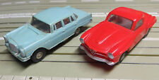 Faller Ams Mercedes 190 Sl + Mercedes 220 with Block Engine + 8 New Tyres