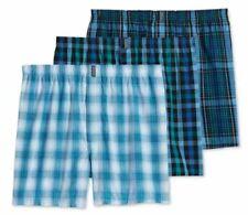 Jockey 3-Pack Men's Classic Cotton Blend Full Cut Woven Boxer Shorts Plaids