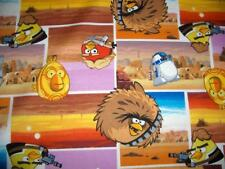 Angry Birds Star Wars Squares C3PO R2-D2 Sand Village Cotton Quilt Fabric BTY
