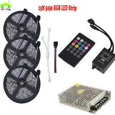 Music Activated LED Strip Full Kit 5050 RGB Party LED Light Sound Controller