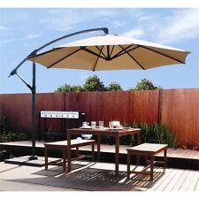 10ft Patio Umbrella Hanging Outdoor Market Offset Large Tilting Cantilever NEW