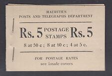 Mauritius SG SB2. 1953-54 Posts & Telegraphs Dept intact Booklet
