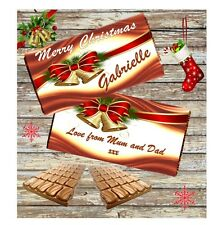 Personalised Christmas Chocolate Bar Wrapper For Galaxy 114g **Stocking Filler**