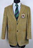 TOMMY HILFIGER Corduroy Cotton Blazer UK 36 Tan Brown Cords Jacket Coat EUR 46