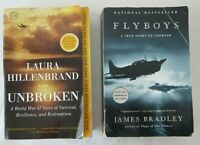 Unbroken by Laura Hillenbrand & Flyboys by James Bradley WW2 Historical Books