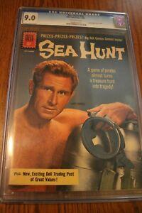 Sea Hunt #10 1961- Silver Age Dell comic- Lloyd Bridges- Slabbed 9.0