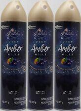 3 Glade DEEP AMBER HILLS Black Currant Amber Air Freshner Room Spray