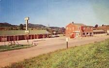 LAUREL SPRINGS NC Myers Motor Court Gas Station Pumps postcard
