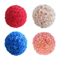 Silk Rose Pomander Flower Kissing Ball Wedding Bouquet Home Party Gift