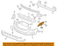 Garage-Pro Fender Liner for AUDI A3 09-13 FRONT Left Front Section