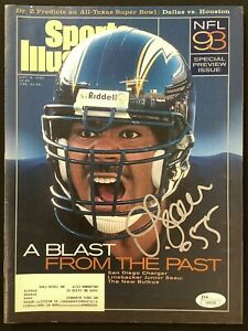 Junior Seau Signed Sports Illustrated 9/6/93 SD Chargers Auto 12xProBowl HOF JSA