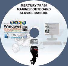 Mercury 75 US 80 EU Four Stroke EFI Mariner Outboard Service Repair Manual