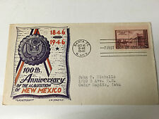 POSTAL COVER 100TH ANNIVERSARY OF NEW MEXICO 1946