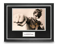 Sir Michael Caine Signed 16x12 Framed Photo Display Get Carter Autograph + COA