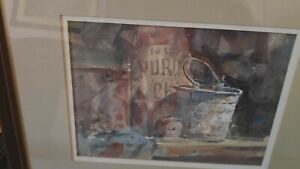 Lowell Ellsworth Smith Original Signed Watercolor Painting Still Life