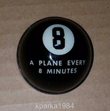 """""""A PLANE EVERY 8 MINUTES"""" 8 BALL FDR CHALLENGE PIN - 60,000 WAR PLANES IN 1942"""