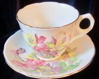 Royal Stafford Aquilegia Bone China Tea Cup and Saucer - England