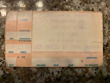 Kenny Wayne Shepherd Concert Ticket Stub 4/17/96 Tucson, Arizona