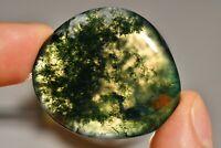MOSS AGATE Palm Stone 4cm 25g Flat Healing Crystal, Wealth, Self Esteem
