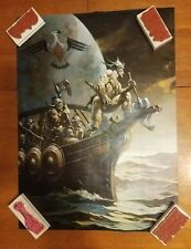 """Frank Frazetta US Promo poster 1 sided VG+ Condition appx. 23"""" x 17"""" D"""