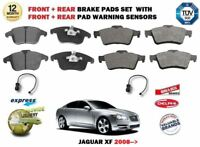 Per Jaguar XF 2.7TD 3.0 4.2 2008->Anteriore + Set Pastiglie Freni Posteriori +