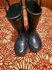Toddler Capelli  Navy Pullup Jelly Rain Boots Size 7