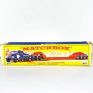 "Matchbox M-6 🔺MAJOR PACK ""EMPTY BOX"" Scammell  ""PICKFORDS"" Crane transporter"