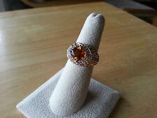 Vitoria Wieck Genuine Madeira Citrine/Orange Sapphire ring 18kt YG and Sterling