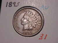 1895 INDIAN HEAD CENT AU NICE ATTRACTIVE COIN COMBINED SHIPPING