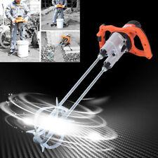 1800w Electric Concrete Cement Mixer Handheld Plaster Grout Paint Mortar 110v