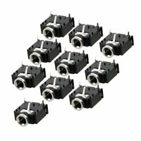 10 Pcs 3 Pin PCB Mount Female 3.5mm Stereo Jack Socket Connector WS