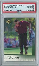 Tiger Woods 2001 UD upper deck golf #1 RC rookie mint PSA 10