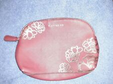 Coach Leather Cosmetic Case Make-up Bag Flowers-Pre-Owned