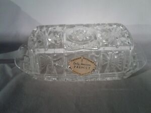 Anchor Hocking Crystal Glass Butter Dish With Lid EAPC Vintage NEVER USED