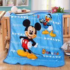 "39""x55"" Mickey Mouse Disney Blanket Warm Soft Plush Silky Flannel Bedding Throw@"