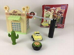 Disney Cars Garage Mega Bloks 7788 Casa Della Tires 100% Complete Duplo Size