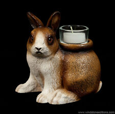 """Windstone Editions """"Dexter"""" Candle Lamp, Bunny, Rabbit, Animal Statue"""