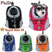 Pet Dog Cat Carrier Travel Mesh Backpack Portable Front Small Large Shoulder Bag