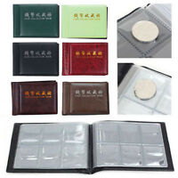 NEWEST 60 Coins Money Penny Coin Collection Pocket Holder Storage Album Book HOT