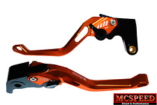 YAMAHA WR125R WR125X Adjustable Brake & Clutch CNC Levers Orange