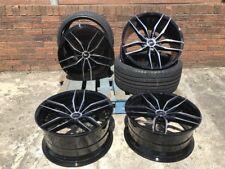 "18"" Negro Pulido Wheels + Neumáticos Opel Vectra Mk II [2002-2008] Hatchback 3.2"