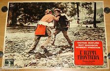 fotobusta originale L'ULTIMA FRONTIERA Victor Mature Anthony Mann 1956